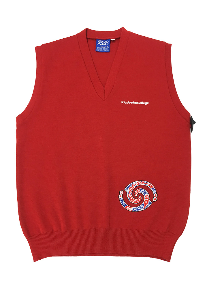 Kia Aroha College Senior Vest Red